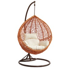 Light Brown Hanging Ball Chair