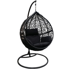 Ravena PE Rattan Hanging Chair with Stand