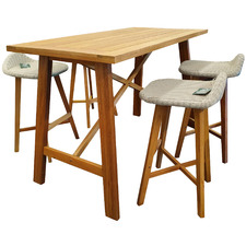 4 Seater Hamptons Bar Table Set