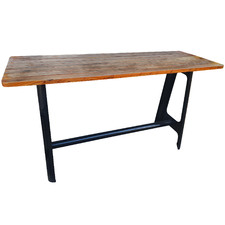 Hercules Steel & Acacia Wood Bar Table