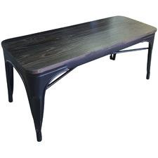 Lume Steel & Ash Wood Outdoor Bench