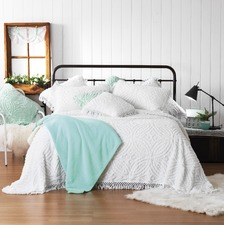 White Kalia Cotton Bedspread Set