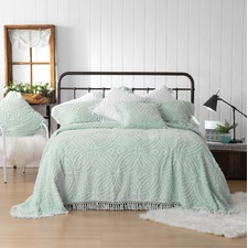 Soft Blue Kalia Cotton Bedspread Set