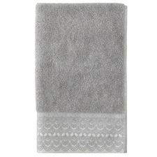 Grey Victoria Turkish Cotton Bathroom Towel