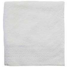 White Victoria Turkish Cotton Bathroom Towel