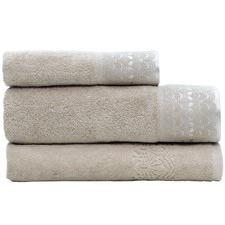 Taupe Victoria Turkish Cotton 3 Piece Towel Set