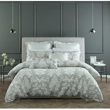 Grey Alexandria Quilt Cover Set