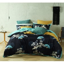 Soraya Cranes Cotton Quilt Cover Set