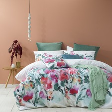 Indra Floral Quilt Cover Set