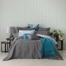 Charcoal Cambridge Cotton Bedspread Set