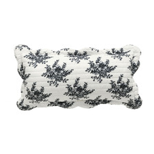 Black Floral Ashton Rectangular Cushion