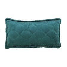 Warm Teal Yaxley Rectangular Cushion