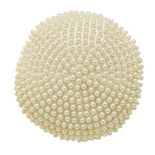 Ivory Trieste Round Cushion