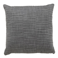 Charcoal Cambridge Cotton Square Cushion