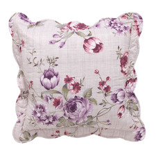 Lilac Dahlia Cotton Cushion
