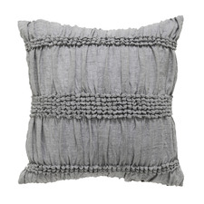 Grey Giana Cotton Square Cushion