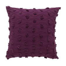 Prune Xenia Cotton Cushion