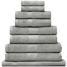 9 Piece Reid Turkish Cotton Bath Towel Set