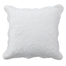 White Cordelia European Pillowcase