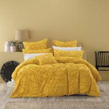 Mustard Kelsey Quilt Cover Set