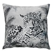 Black Leopard Velvet Cushion