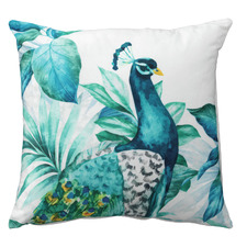 Blue Peacock VelvetCushion