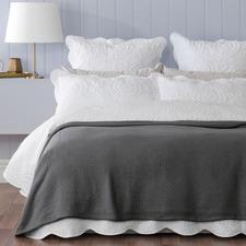 Coal Norwood Cotton Blanket