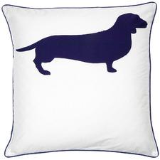 Indigo Dachshund Cotton European Pillowcase