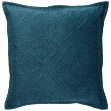 Teal Dynasty Velvet European Pillowcase
