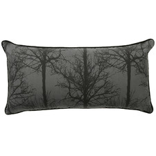 Black Alpine Deer Rectangular Cushion