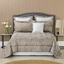6 Piece Taupe Dresden Comforter Set