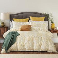 Mustard Marrakech Cotton Quilt Cover Set