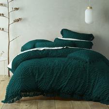 Teal Savannah Cotton Quilt Cover Set