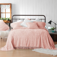 Pink Kalia Cotton Bedspread Set