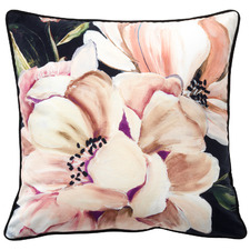 Blush Tazanna Floral Velvet Cushion
