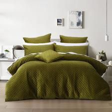 Olive Alden Velvet Quilt Cover Set