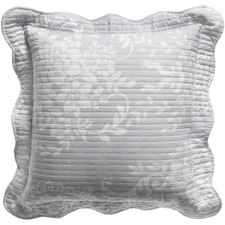 Grey Florence Square Cushion