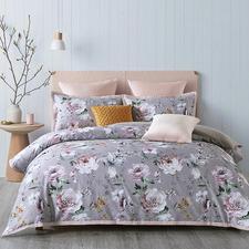 Aubergine Montrose Cotton Sateen Quilt Cover Set