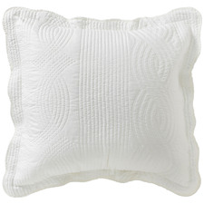 White Quilted Kinley Cushion