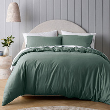 Green Riviera Organic Cotton Quilt Cover Set