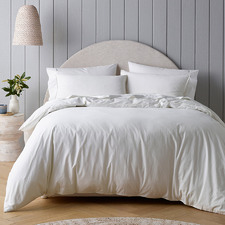 White Riviera Organic Cotton Quilt Cover Set