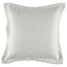 White Annora European Pillowcase