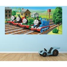 Thomas Busy Little Trains Half Wall Mural