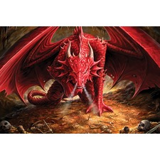 Dragons Lair Anne Stokes Full Wall Mural