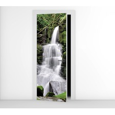 Forrest Waterfall Door Mural