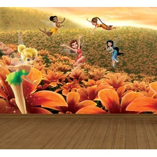 Fairies Flower Frenzy Full Wall Mural