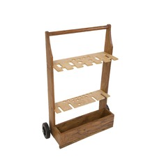 Wooden Croquet Storage Trolley
