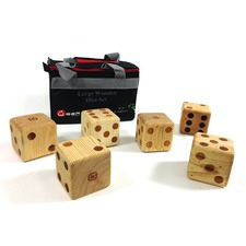 Uber Giant Wooden 9cm Dice - Pack of 6