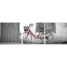Vintage Bicycle Red Triptych (Set of 3)
