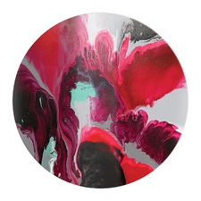 Swan Red Acrylic Glass Wall Art by Emma Thomas